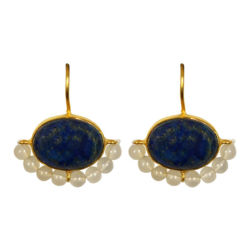 Tamara Ring of Pearls and Blue Earrings