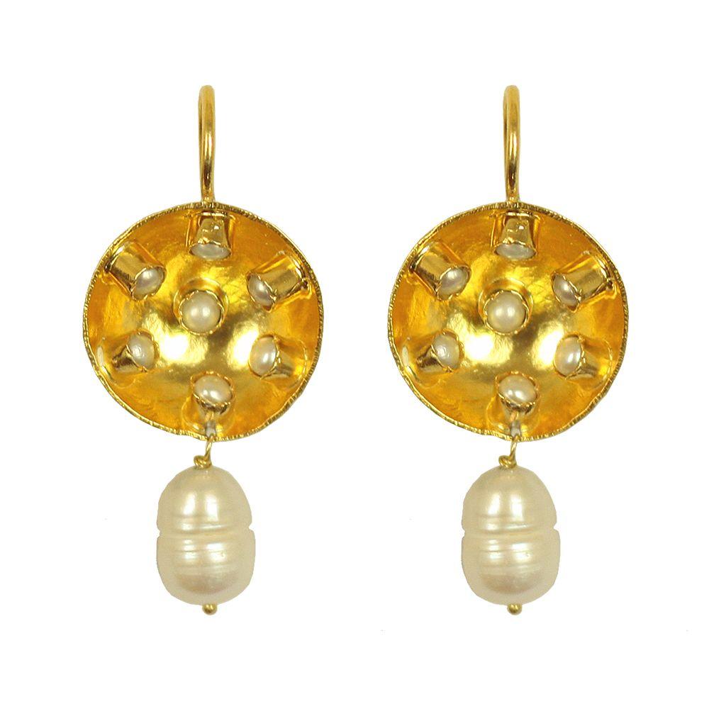 Tamara Silver Pearl Droplet Earrings