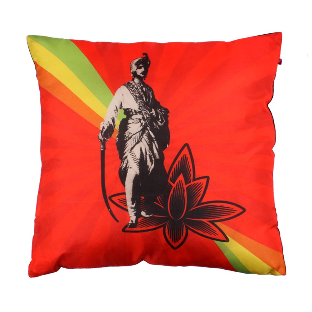 Your majesty Poly Silk Cushion Cover-11831