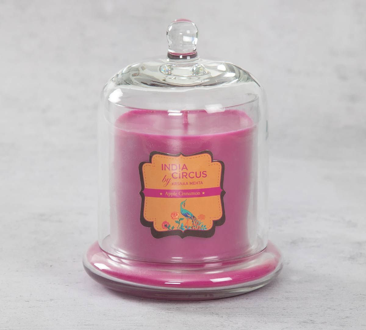 India Circus Apple Cinnamon Glass Jar Scented Candle