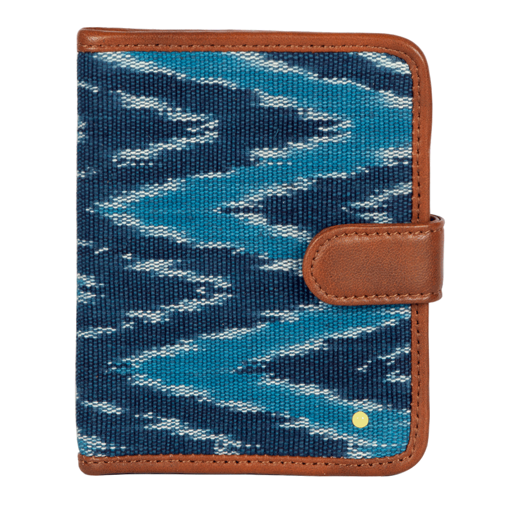 Aqua blue leather wallet