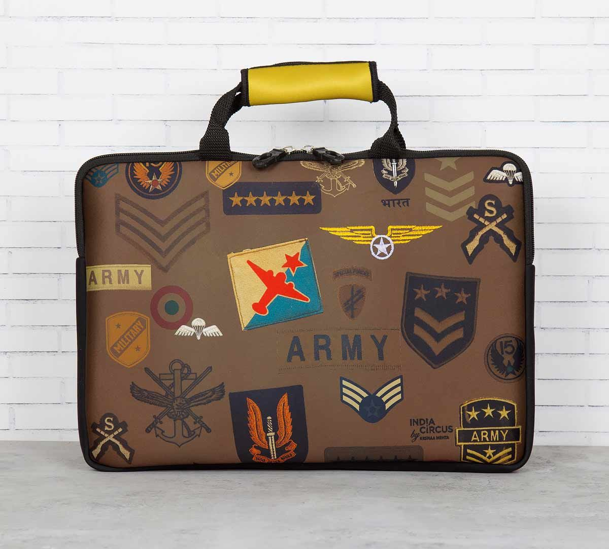 India Circus Army Badges Rush Laptop Sleeve and Bag