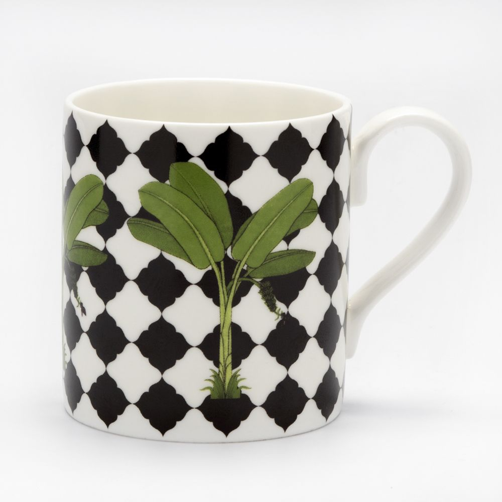 Banana Chequered Leaf Coffee Mug