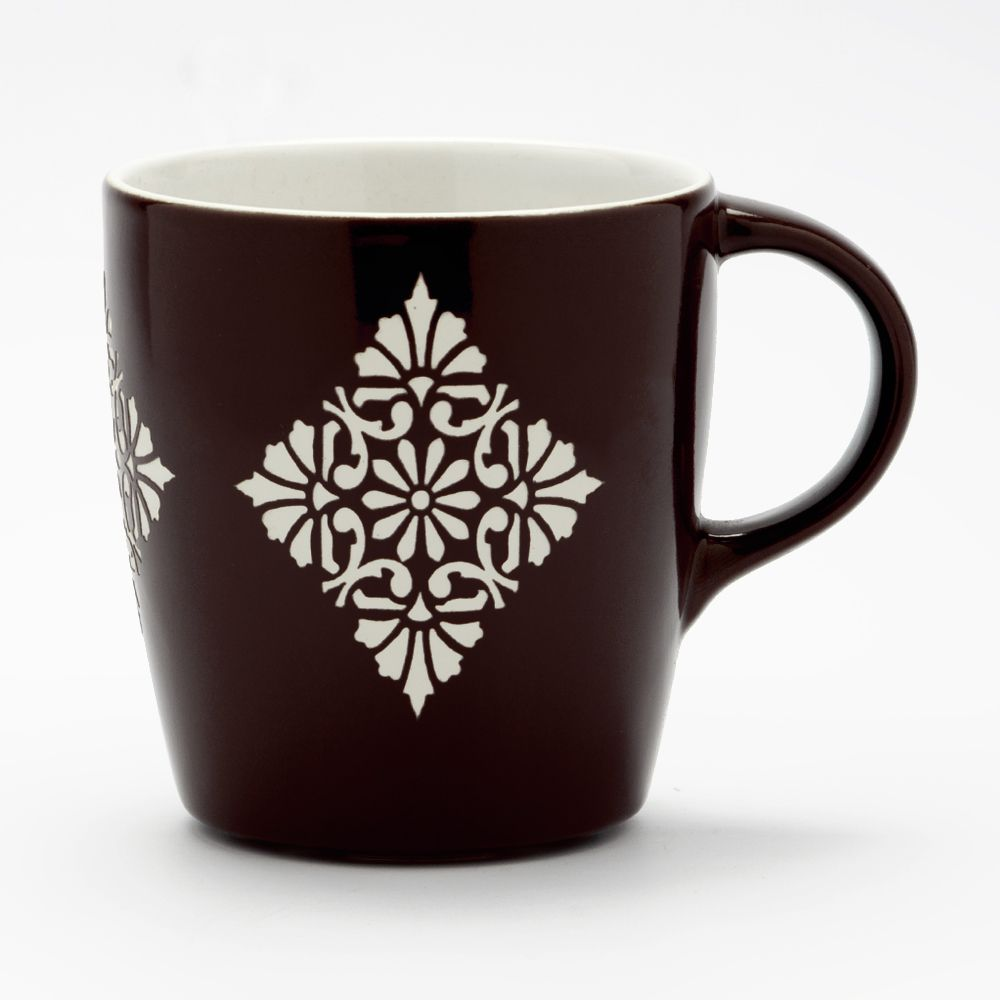Buti Link Brown Engraved Mug