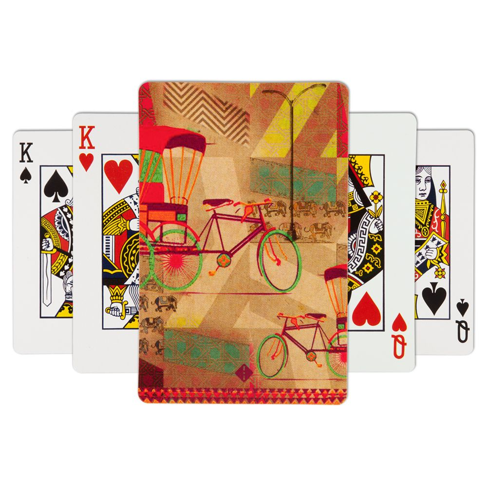 Jalebi Chalo Double - Seat Playing Card - (Set of 2)
