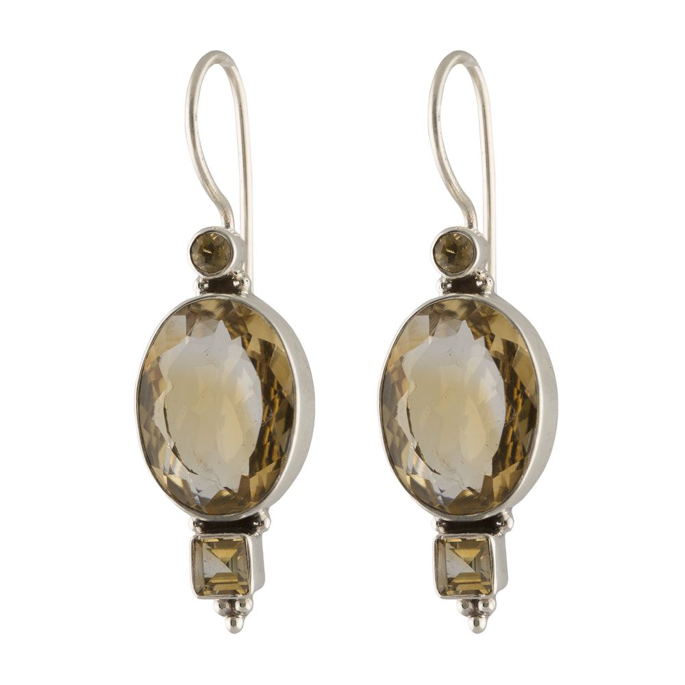 Citrine silver Earrings