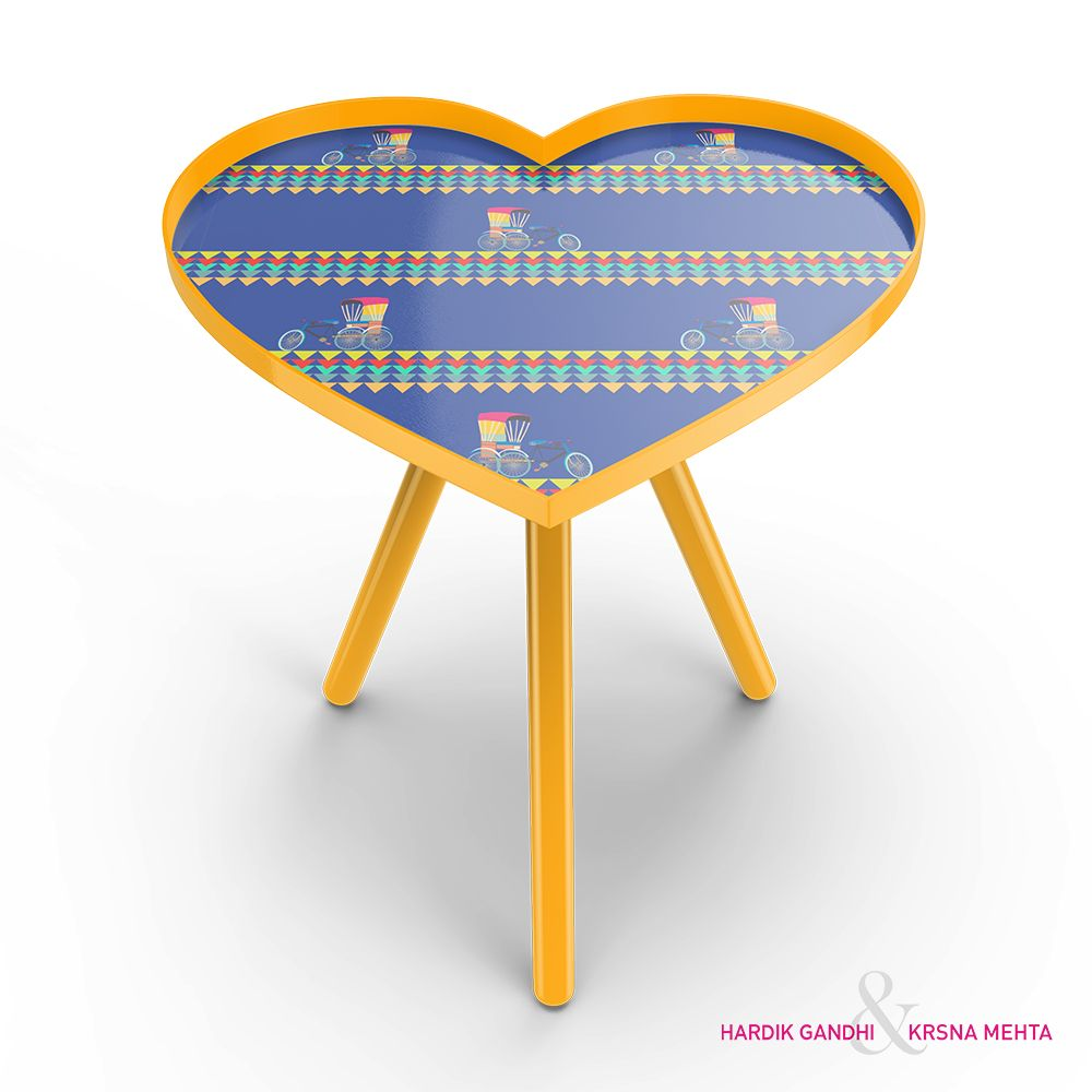 Cycle Ride Heart Side Table