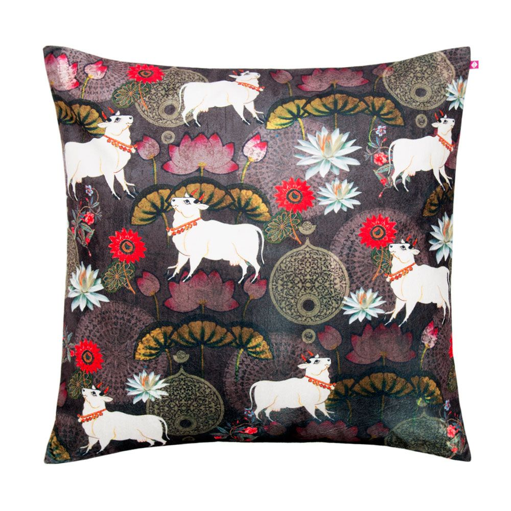 Dance of Rasa Poly Velvet Floor Cushion Cover