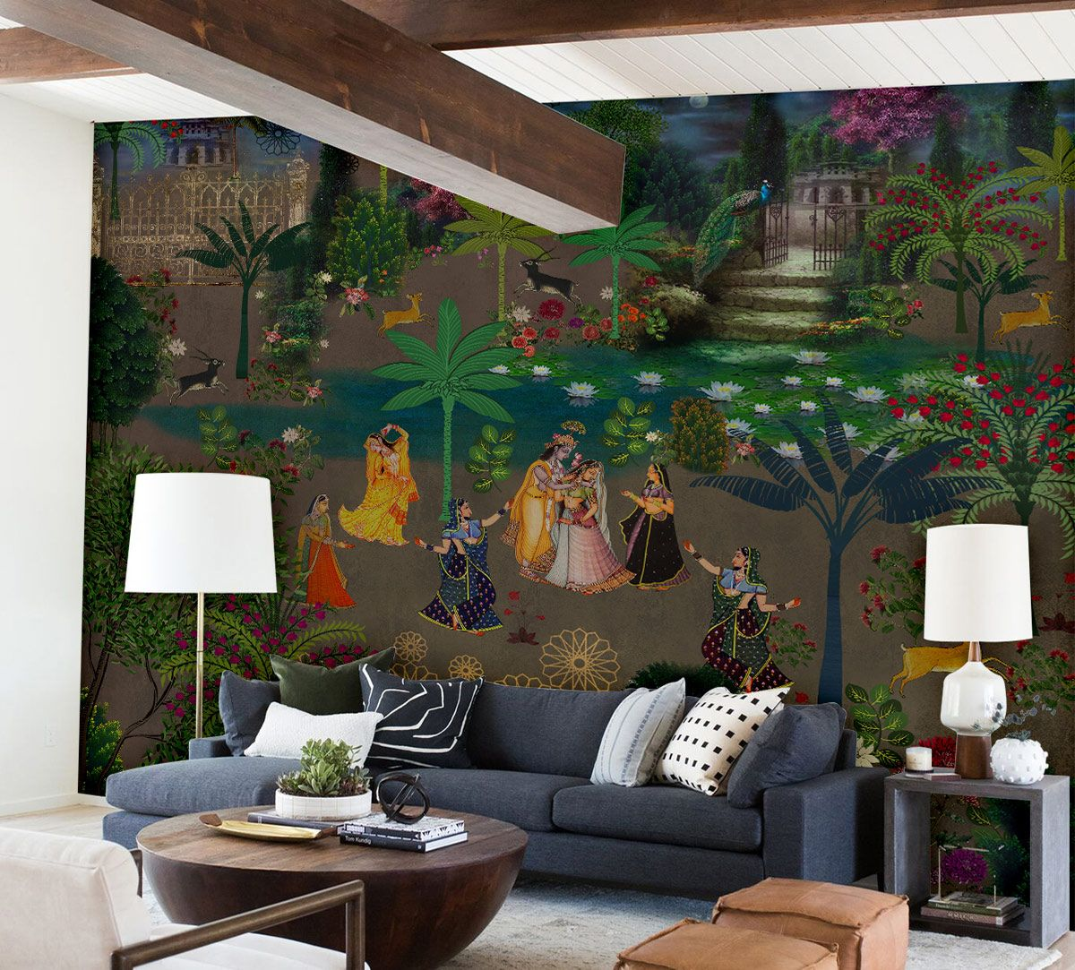 Dawns of Raas Leela Wallpaper