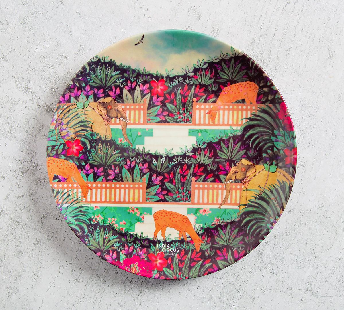 Floors of Flourish 8 inch Decorative and Snacks Platter