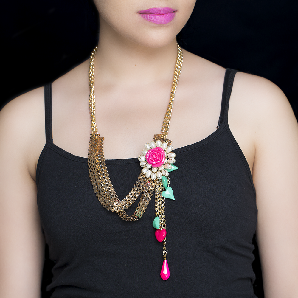 Floral Drop Necklace