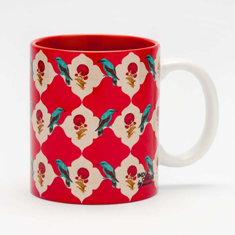 Floral Feather Mug