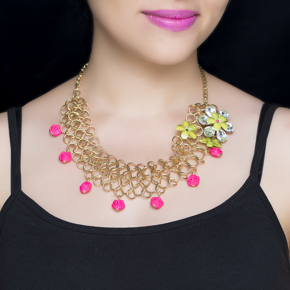 Floral Quirky Necklace