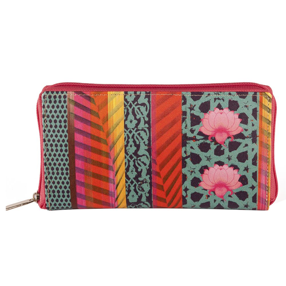 Flower Quill Ladies Zipper Wallet