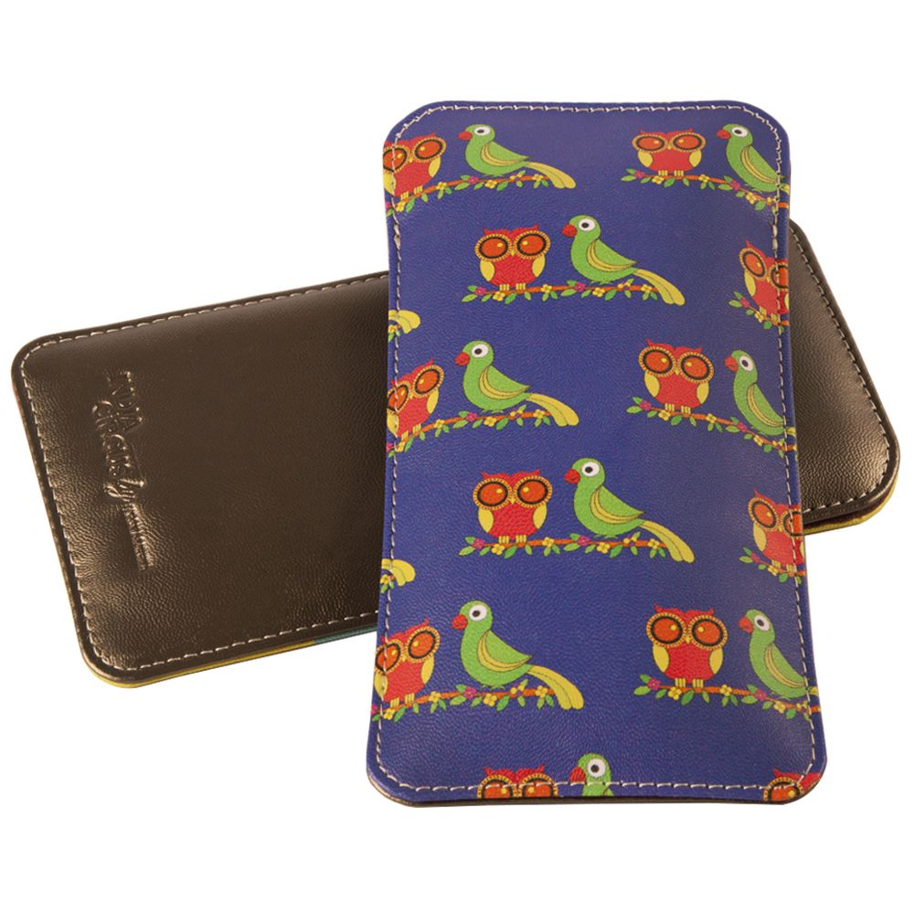 Funky Owl & Parrot Spectacle Case
