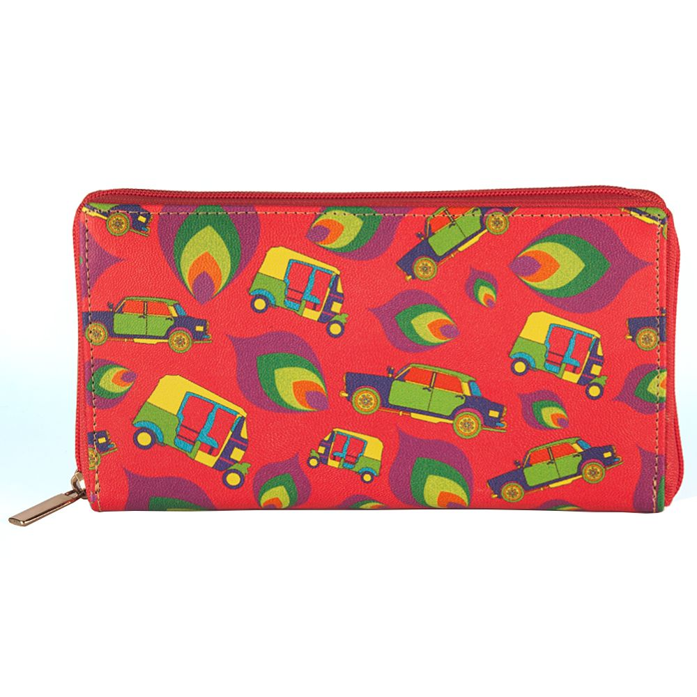 Funky Transport Ladies Zipper Wallet