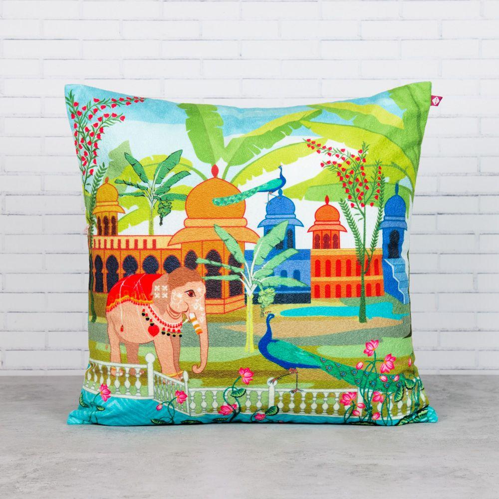 Garden of Transcendence Blended Velvet Cushion Cover