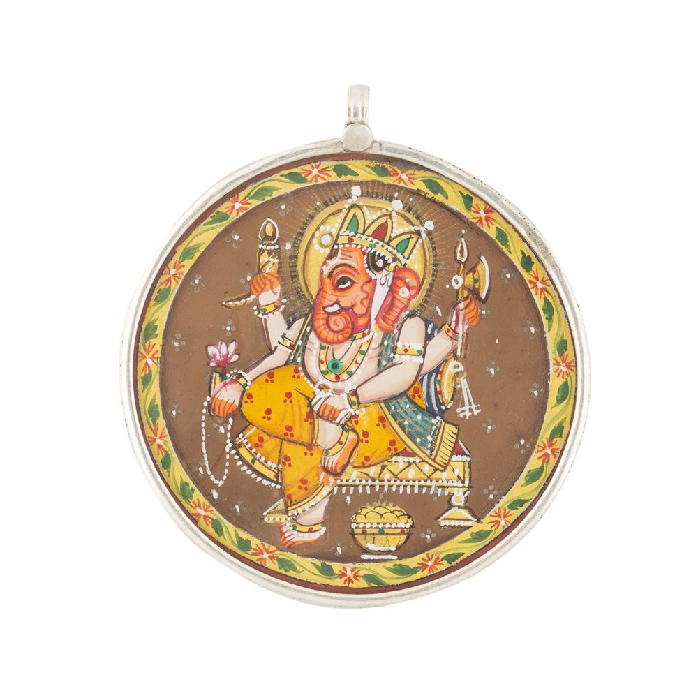 Lord Ganesha Circular Pendant