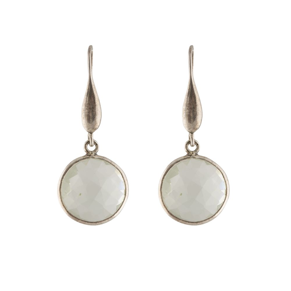 Green Amethyst silver Earrings