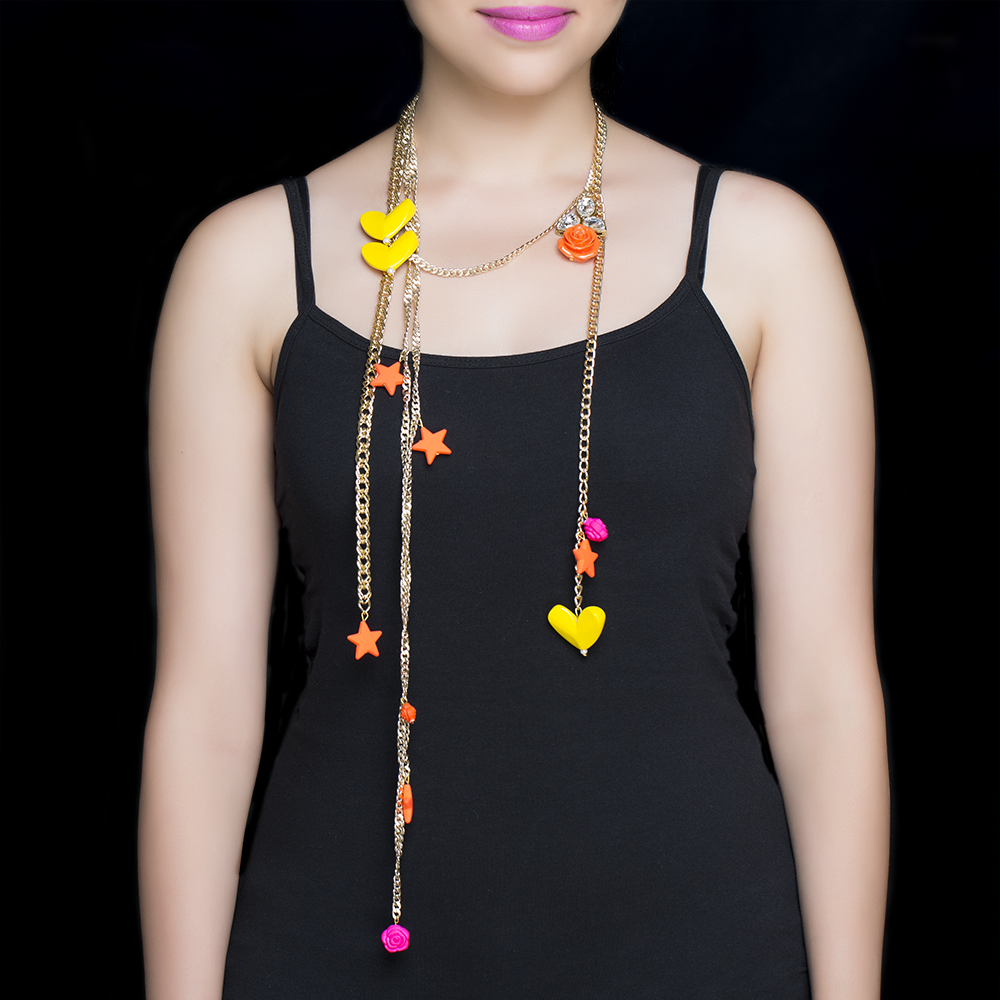 Heart & Star Quirky Necklace
