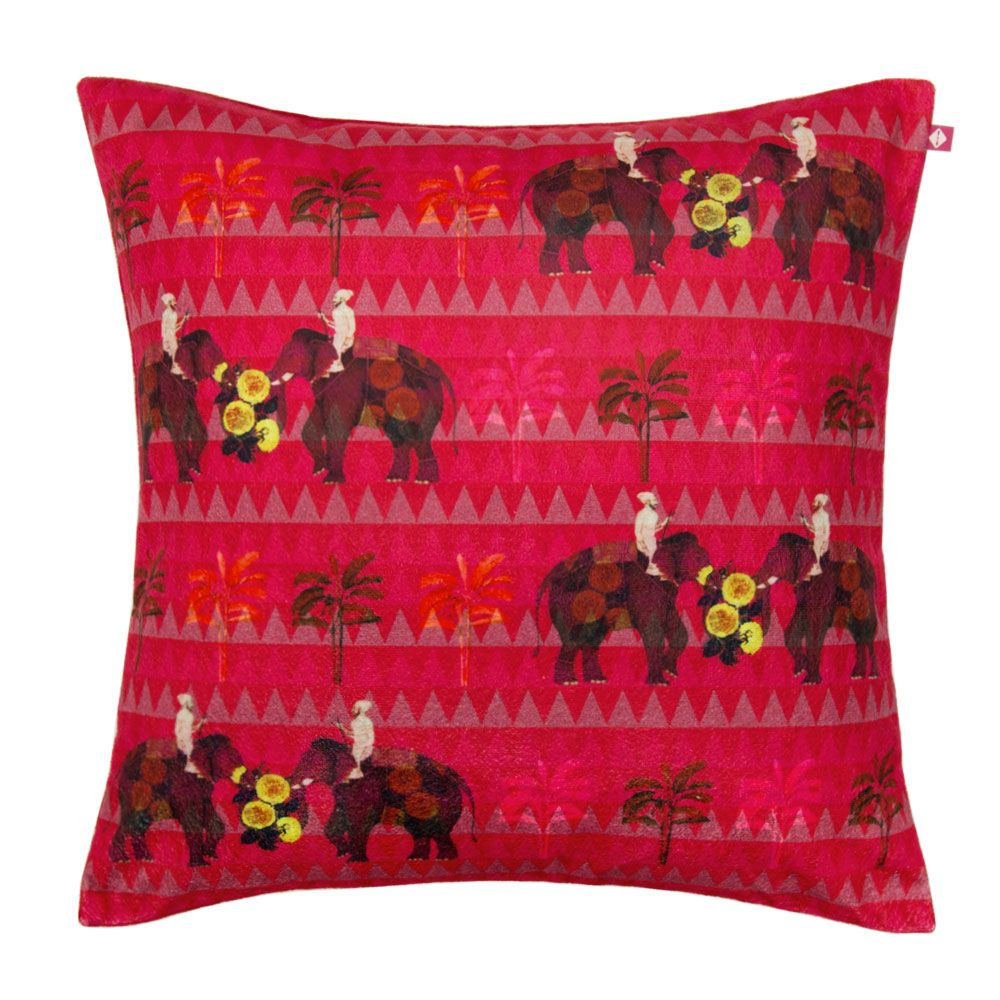 Field of Magic Poly Velvet Cushion Cover