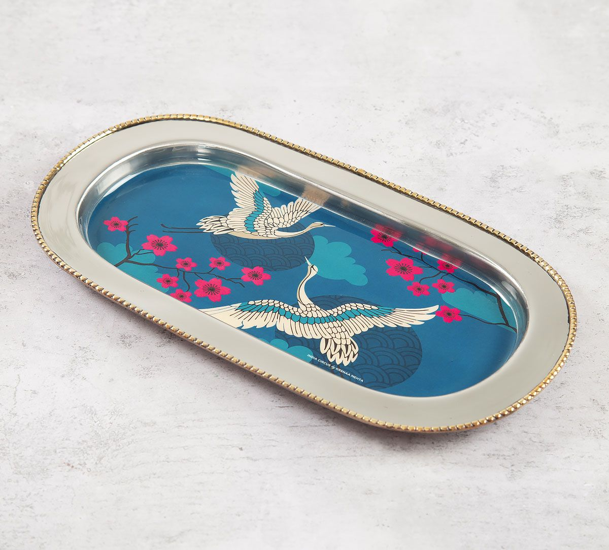 India Circus Aerial Moments Steel Serving Tray