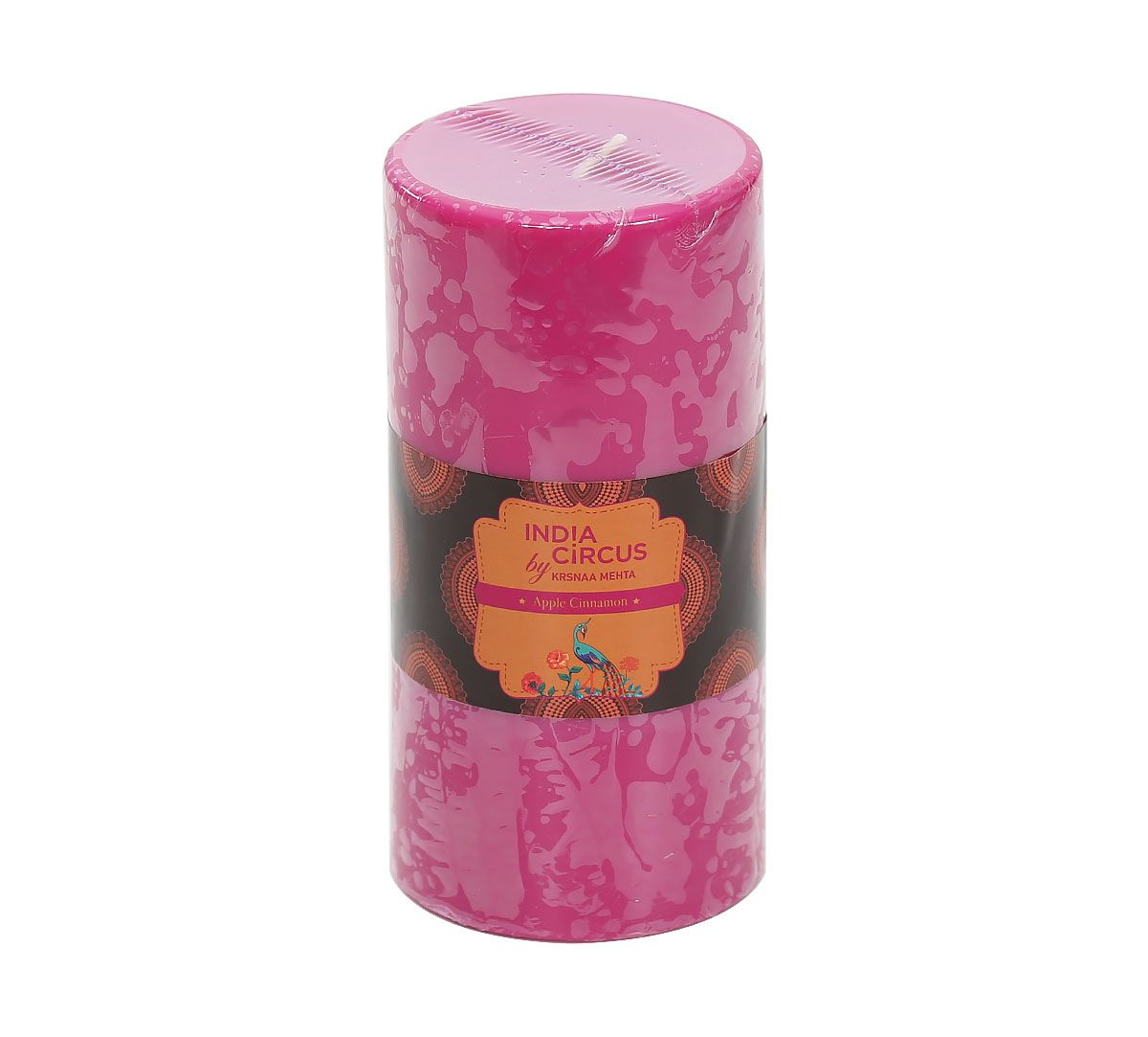 India Circus Apple Cinnamon Pillar Candle