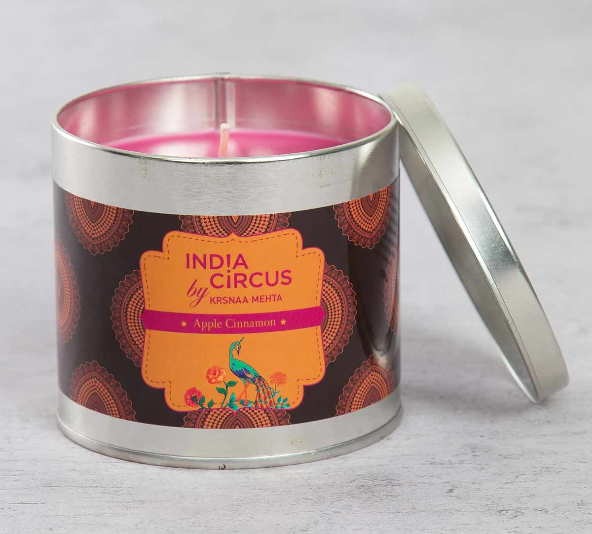 India Circus Apple Cinnamon Tin Candle
