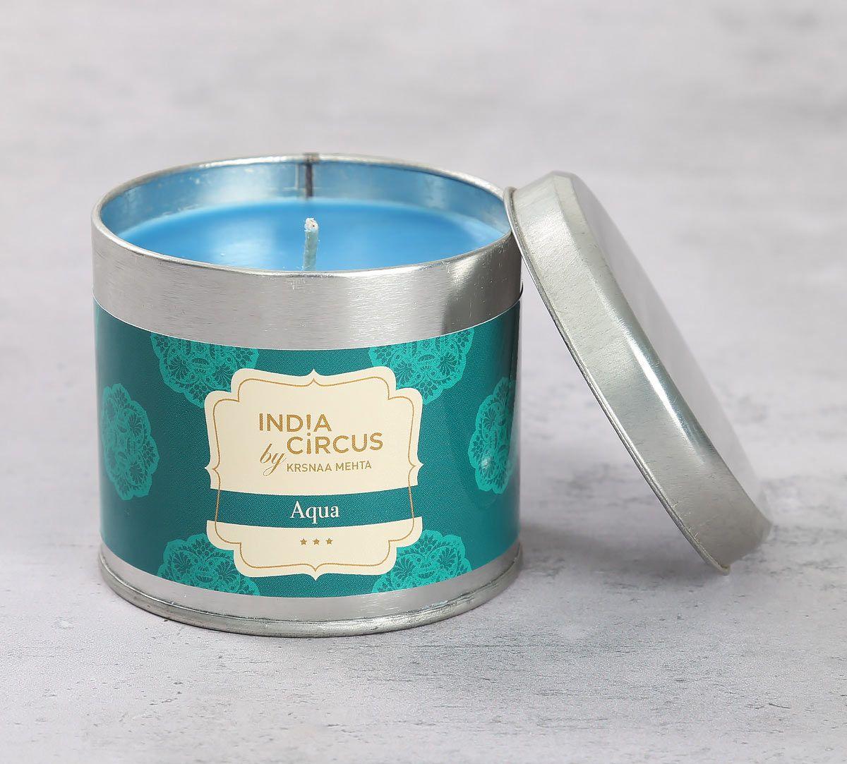 India Circus Aqua Tin Candle