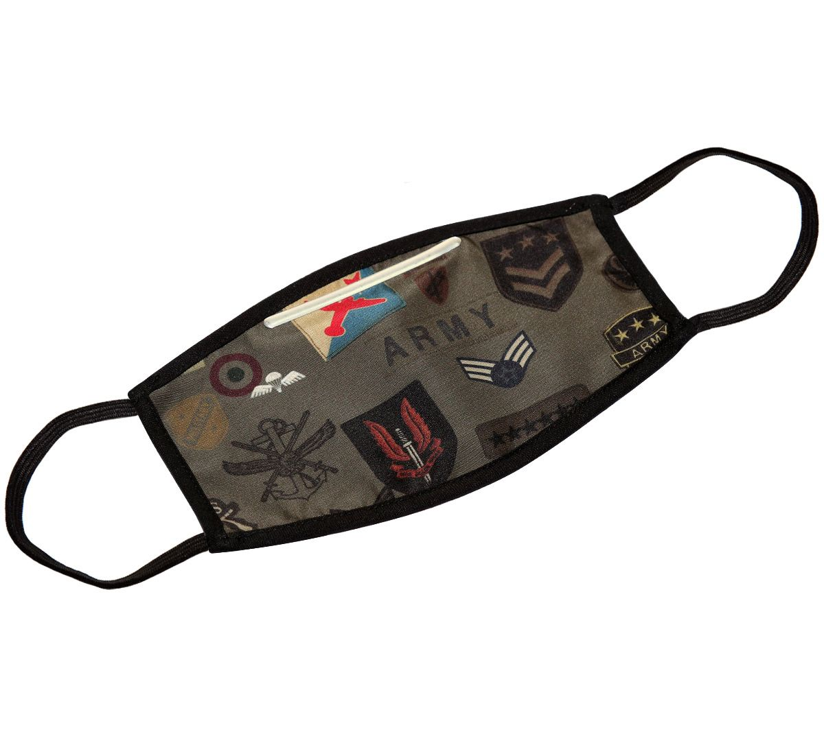 India Circus Army Badges Rush Protective Face Mask