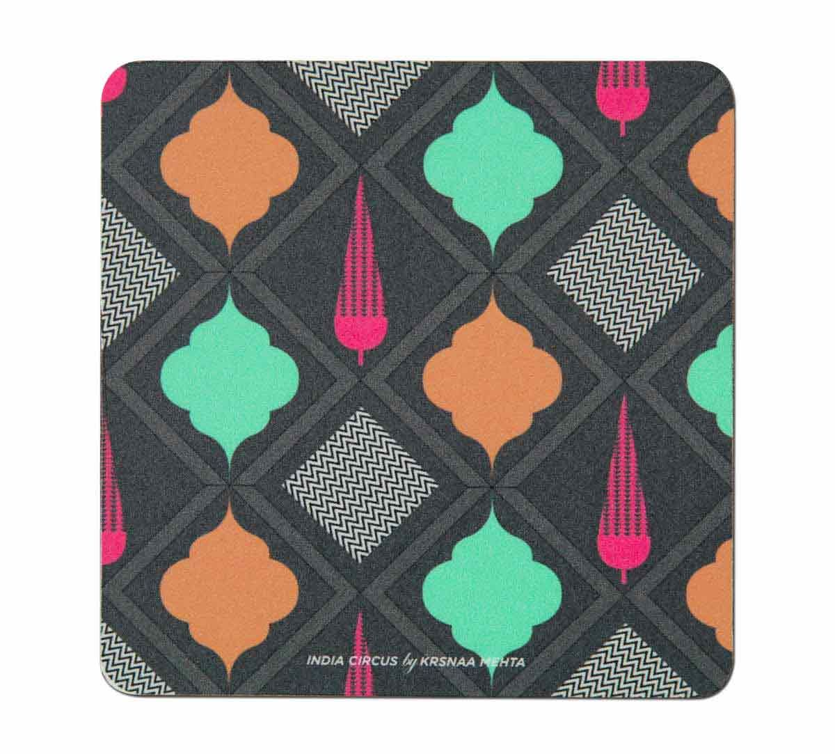 India Circus Assorted Geometry Table Coaster Set of 6