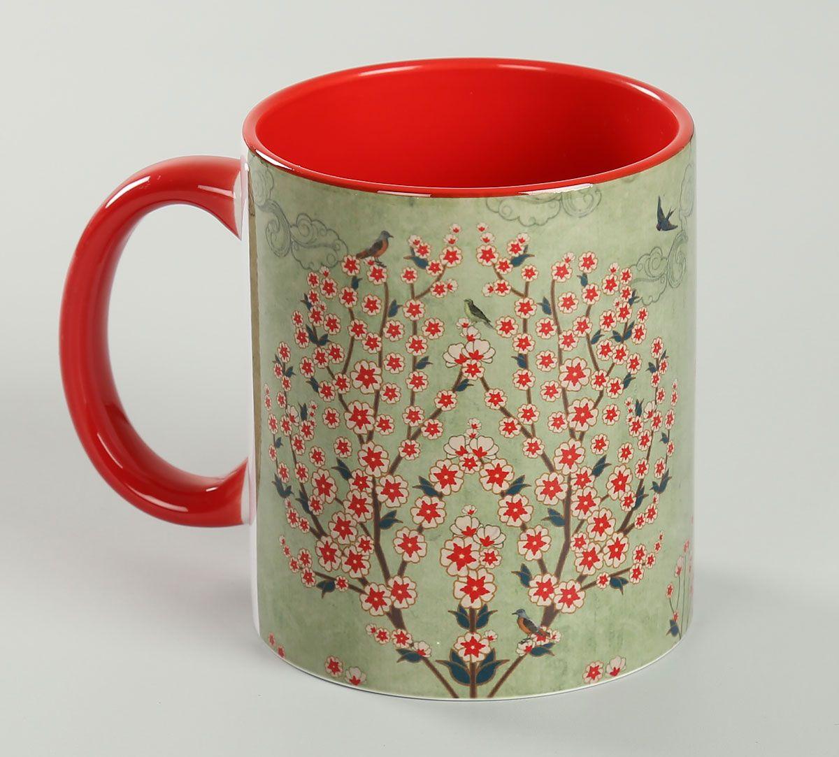 India Circus Beryl Boutonniere Maroon Coffee Mug