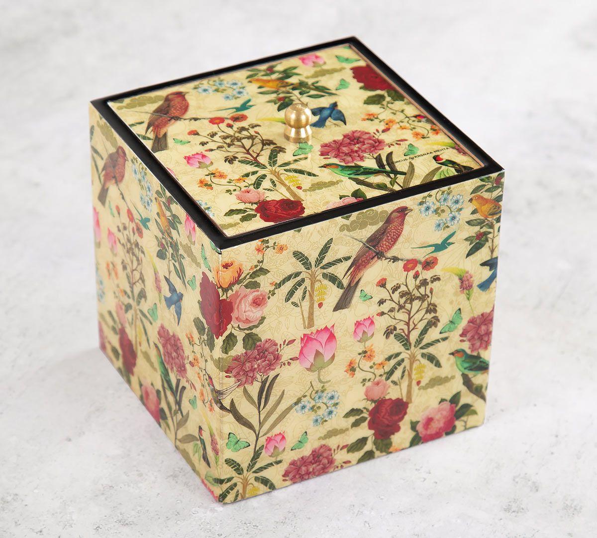 India Circus Bird Land Square Storage Box