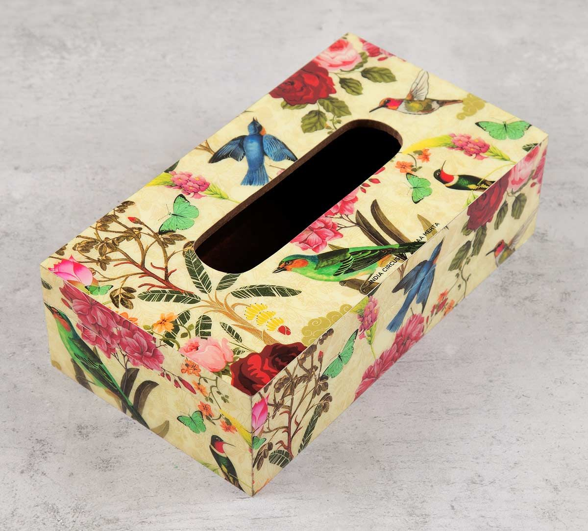 India Circus Bird Land Tissue Box Holder