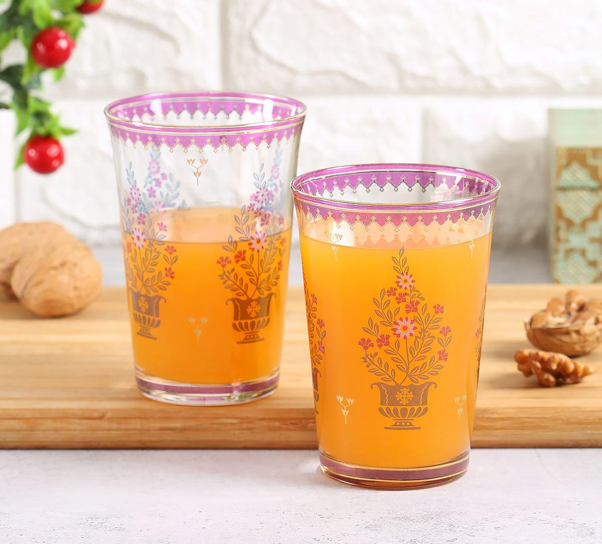 India Circus Birdi Park Glass Tumbler Set of 2