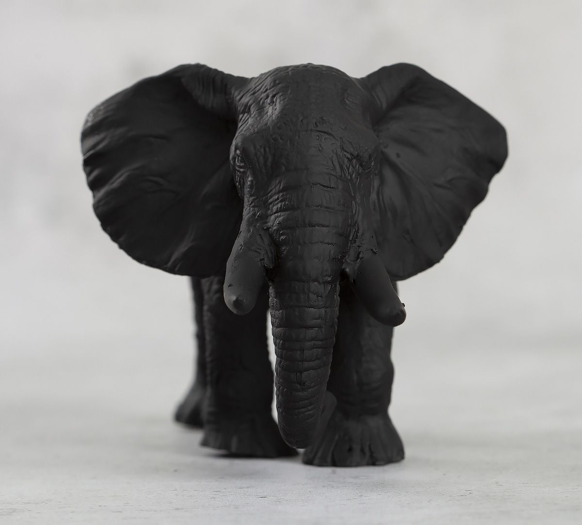 India Circus Black Baby Elephant Figurine