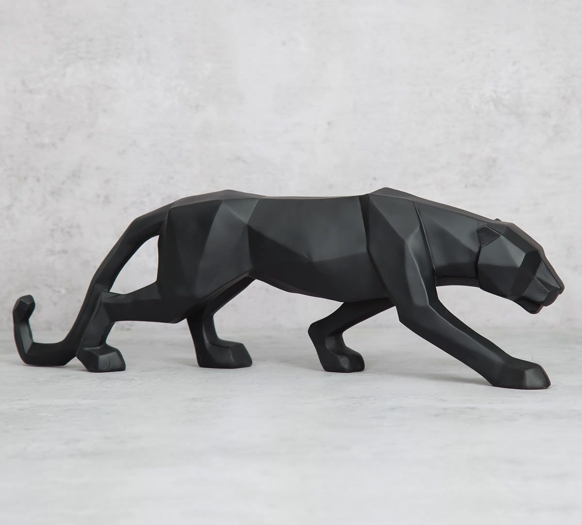 India Circus Black Panthera Figurine