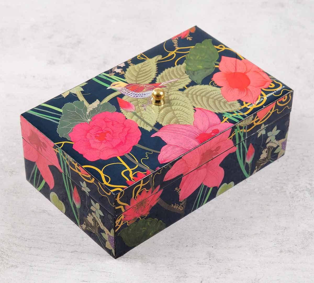 Blooming Bandish Enameled Storage Box