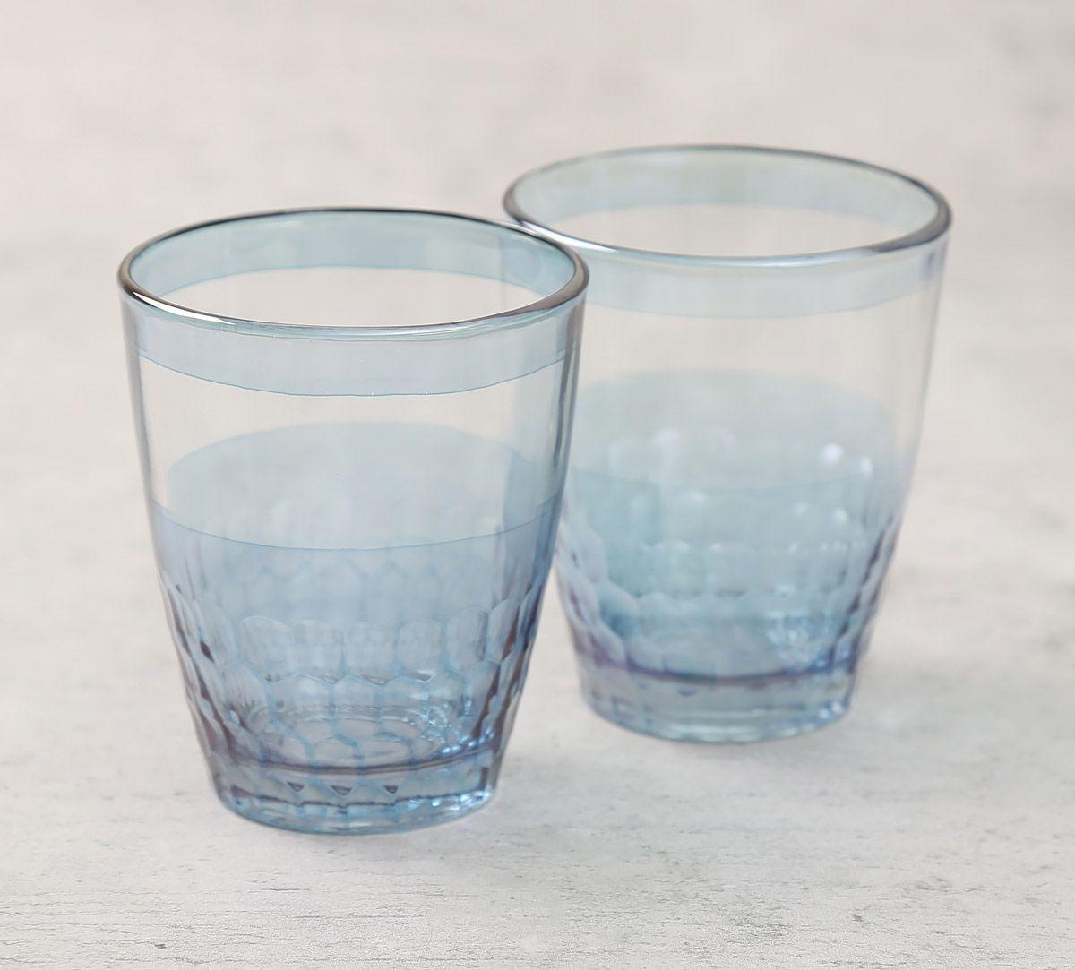 India Circus Blue Honeycomb Water Tumbler Set of 2