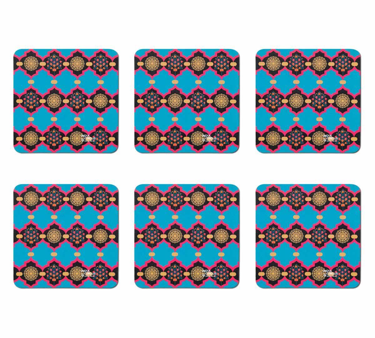 India Circus Blue Latticed Synergy Table Coaster