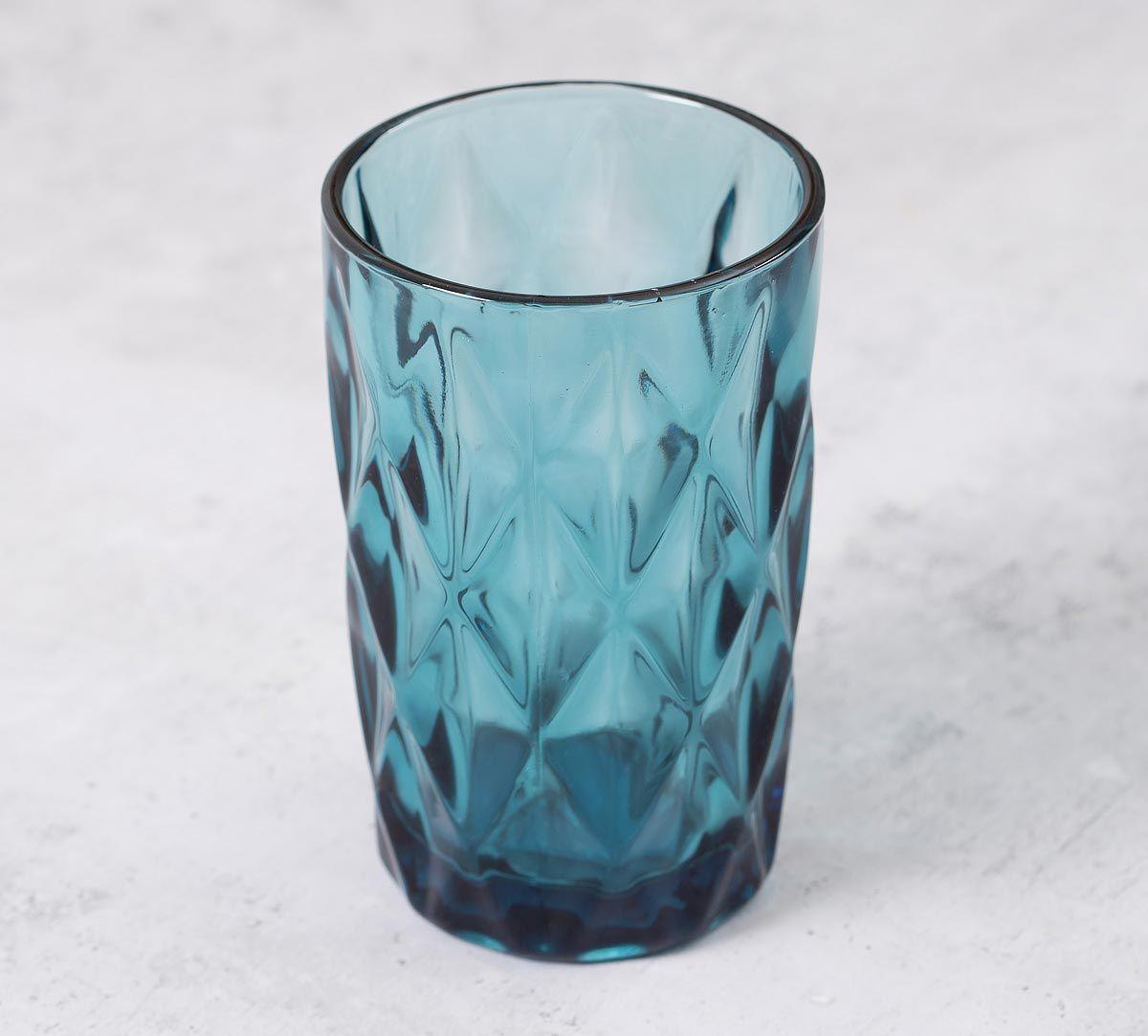 India Circus Blue Sainte Regular Glass Tumbler