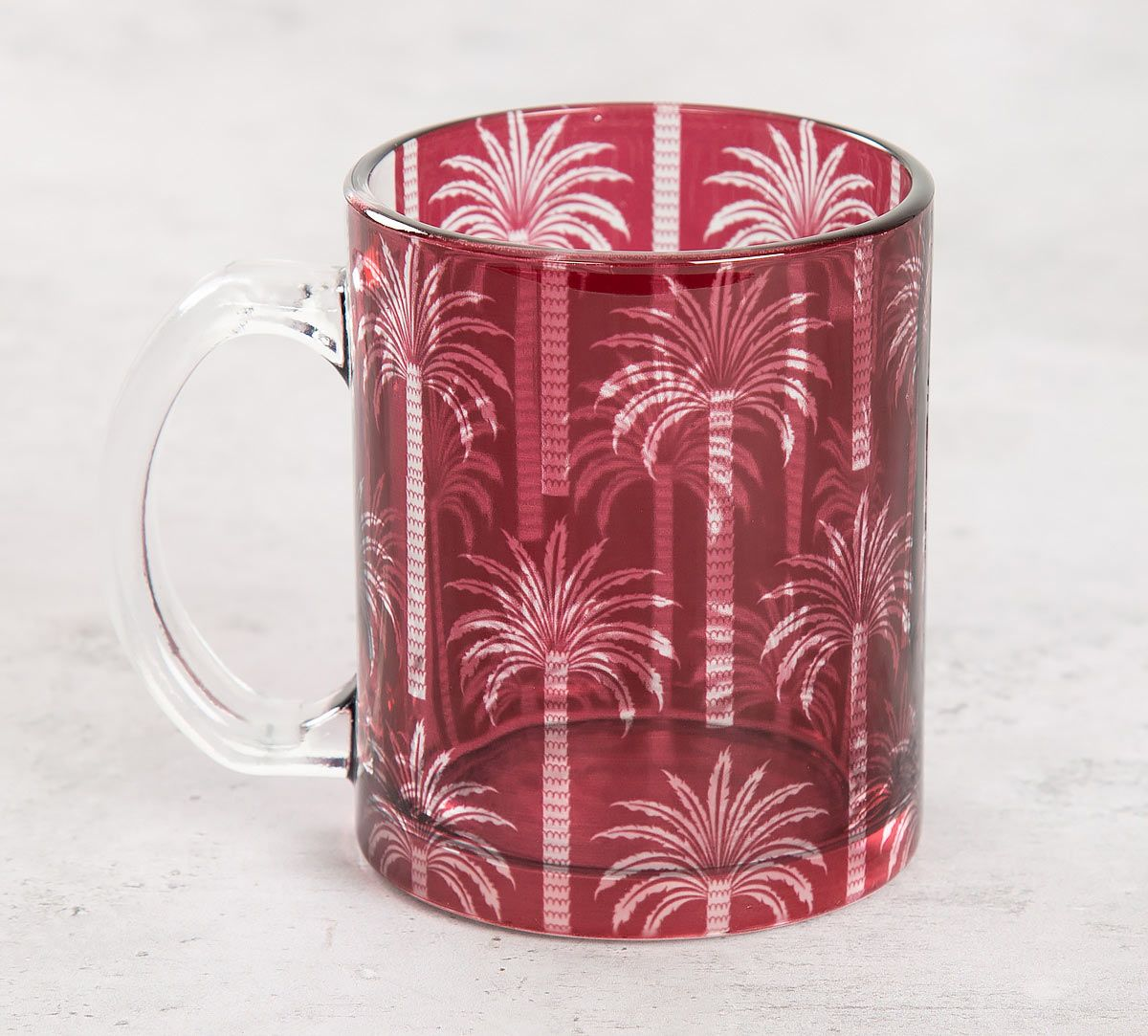 India Circus Blushed Palmeria Glass Mug