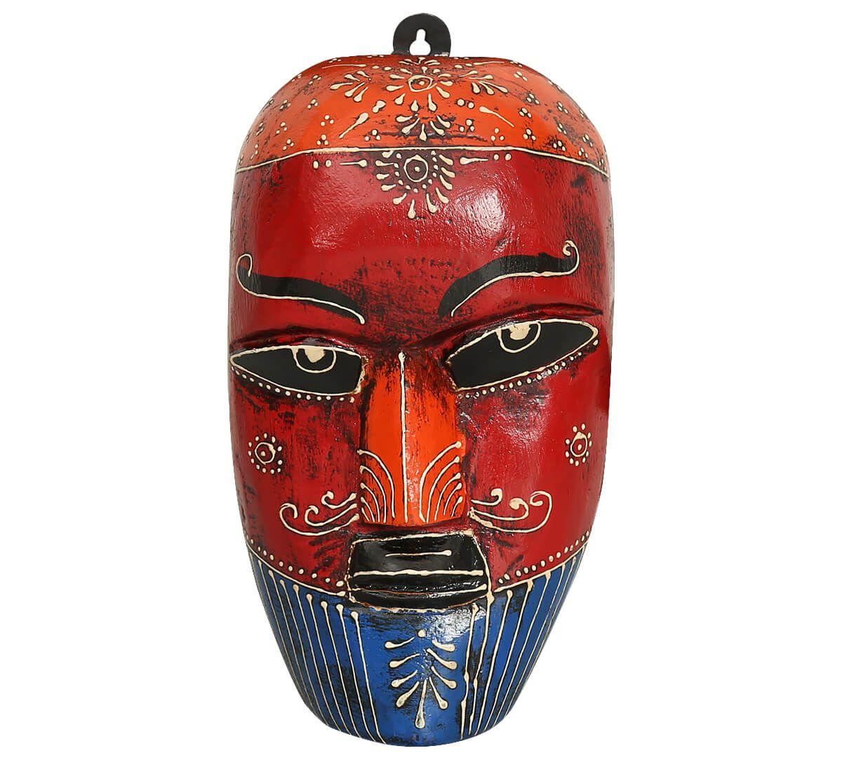 India Circus Cardinal Nymph Decorative Wooden Mask