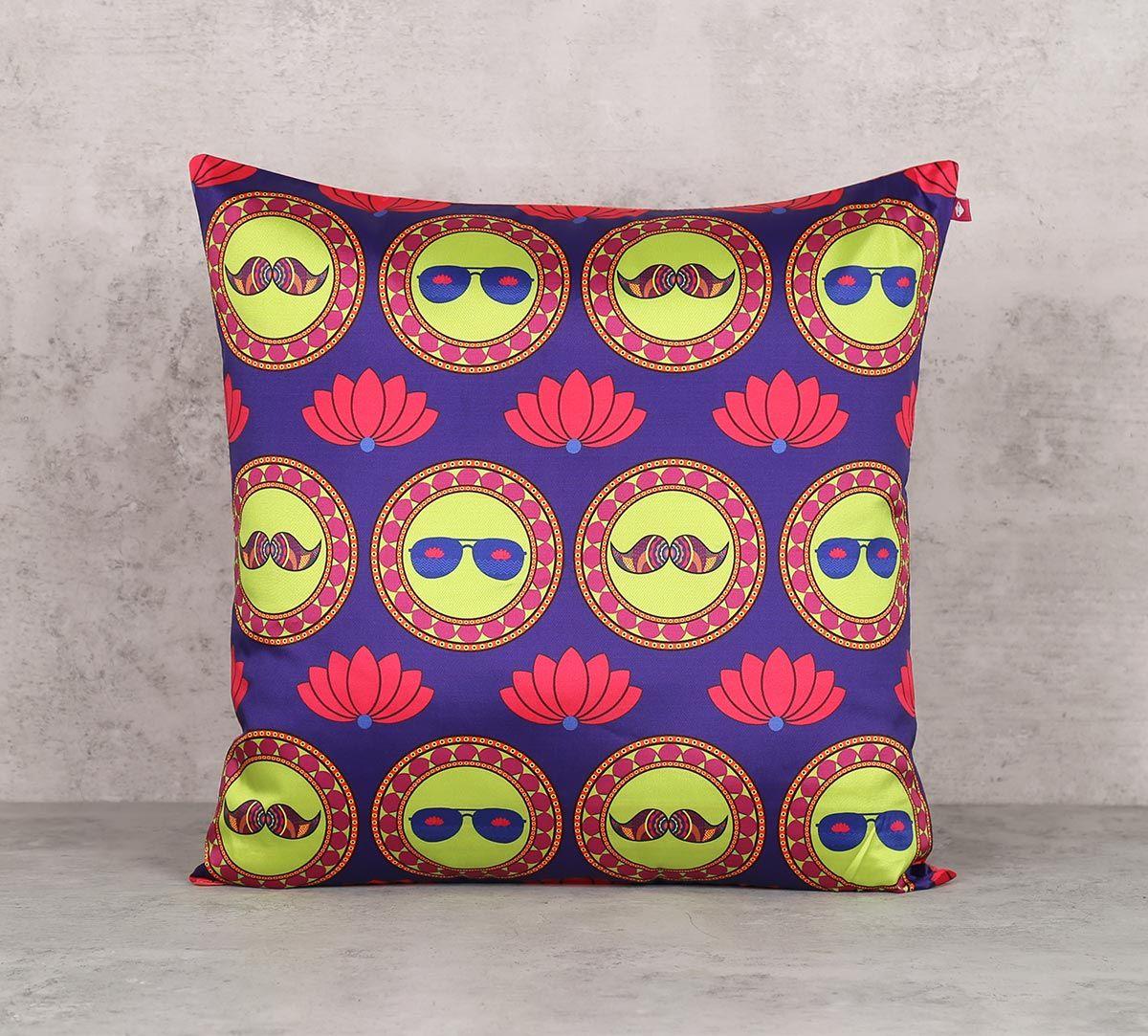 India Circus C'est La Vie Blend Taf Silk 16 x 16 Cushion Cover