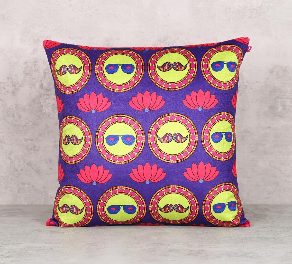 India Circus C'est La Vie Blend Velvet 16 x 16 Cushion Cover