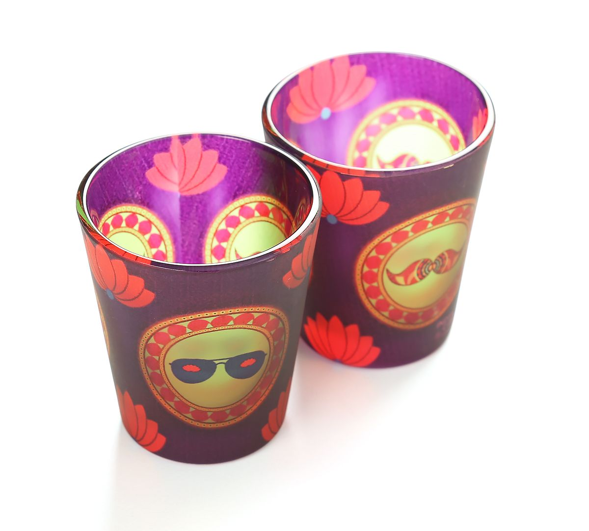 India Circus C'est La Vie Frosted Shot Glasses (Set of 2)