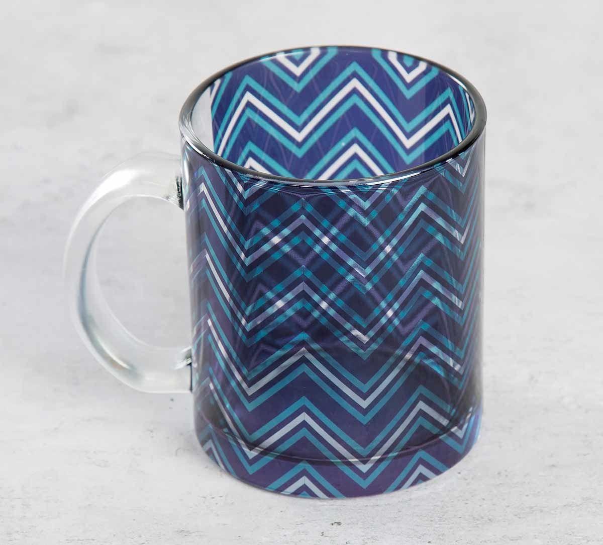 India Circus Chevron Alba Glass Coffee Mug
