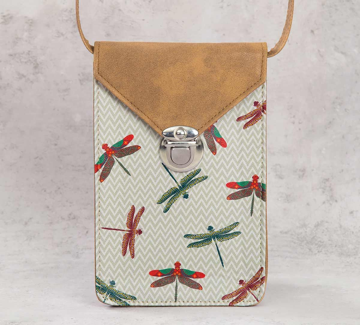 India Circus Chevron Butterflies Mobile Sling Bag