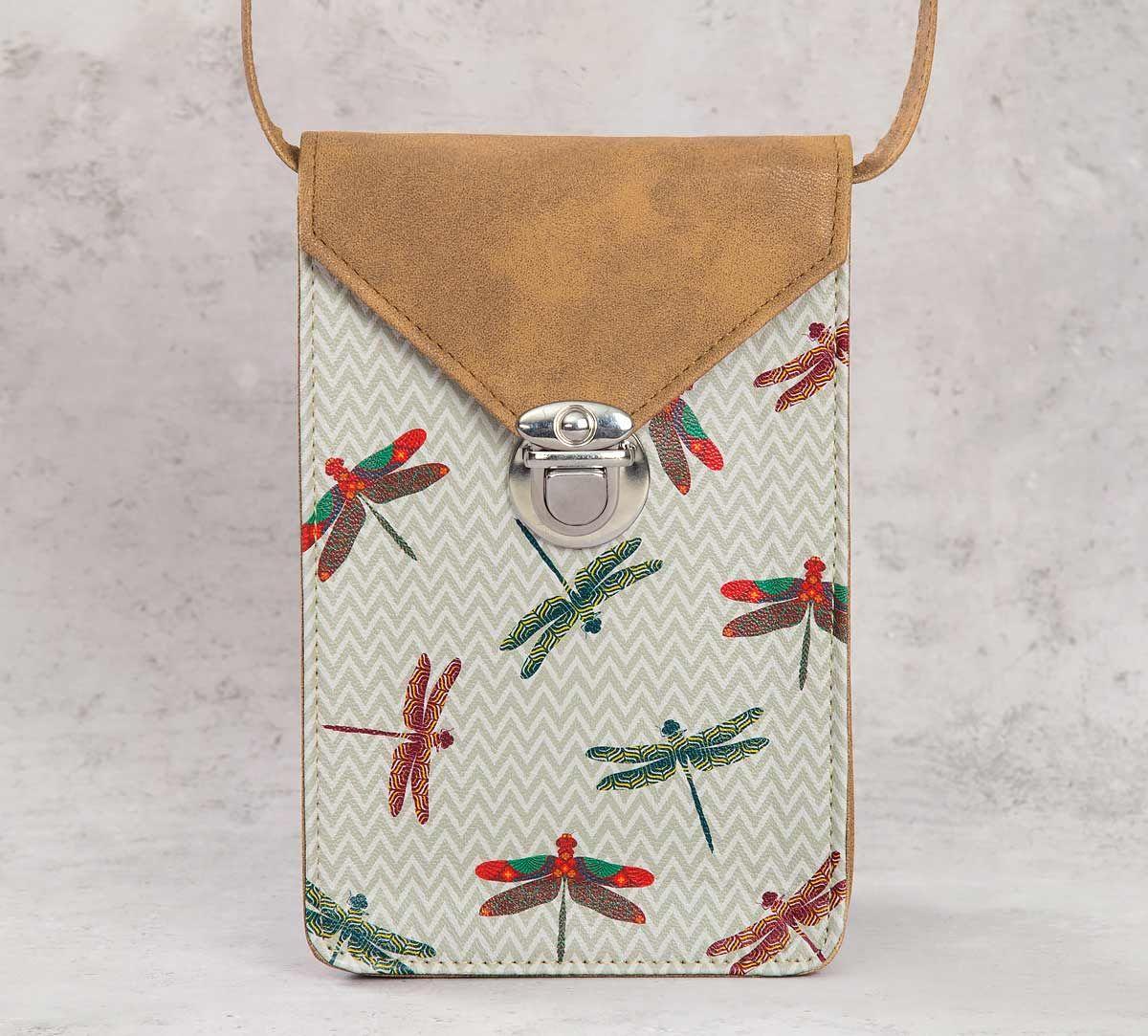 India Circus Chevron Butterflies Mobile Sling Bag