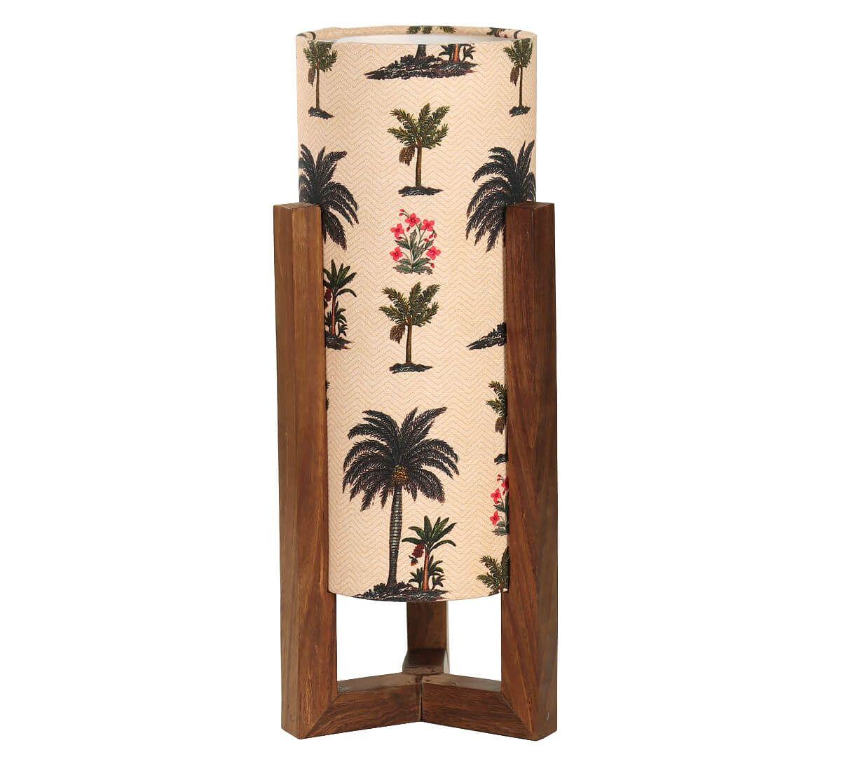 India Circus Chevron Palms Cylindrical Lamp